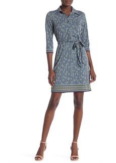Max Studio 3/4 Sleeve Shirt Dress