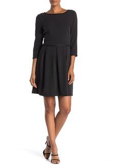 Max Studio 3/4 Sleeve Dot Print Dress