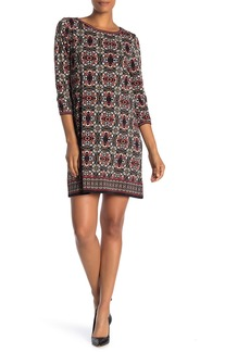 Max Studio 3/4 Sleeve Shift Dress