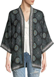 Max Studio 3/4-Sleeve Printed Kimono