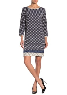 Max Studio 3/4 Sleeve Shift Dress