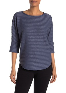 Max Studio 3/4 Sleeve Striped Top