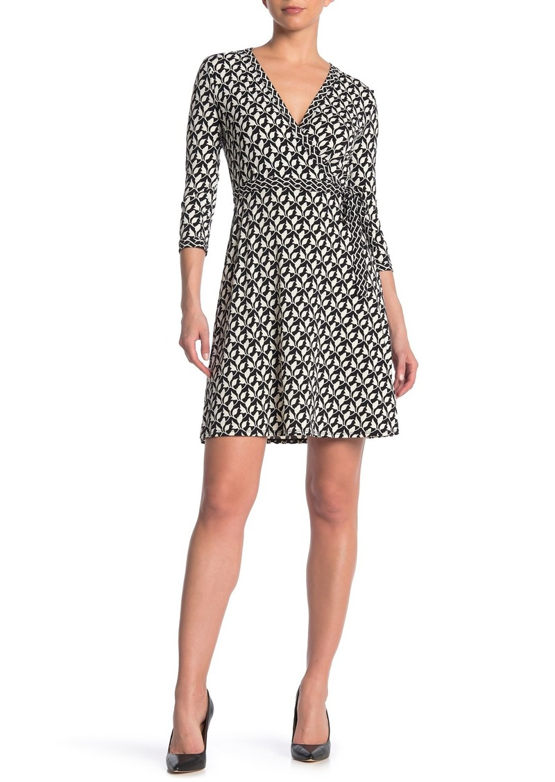 Max Studio 3/4 Sleeve Surplice Neck Dress