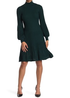 Max Studio 3/4 Sleeve Tiered A-Line Sweater Dress