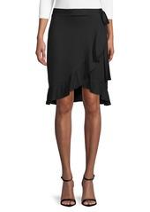 Max Studio Asymmetrical Ruffle Skirt