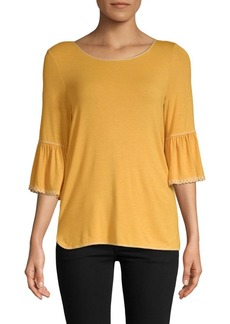 Max Studio Bell-Sleeve Top