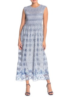 Max Studio Border Print Maxi Dress