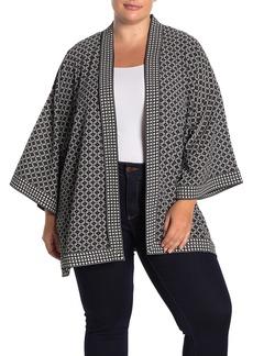 Max Studio Bubble Crepe Kimono Jacket (Plus Size)