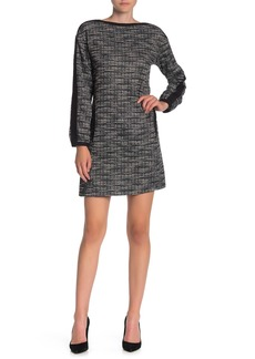 Max Studio Bubble Sleeve Tweed Dress