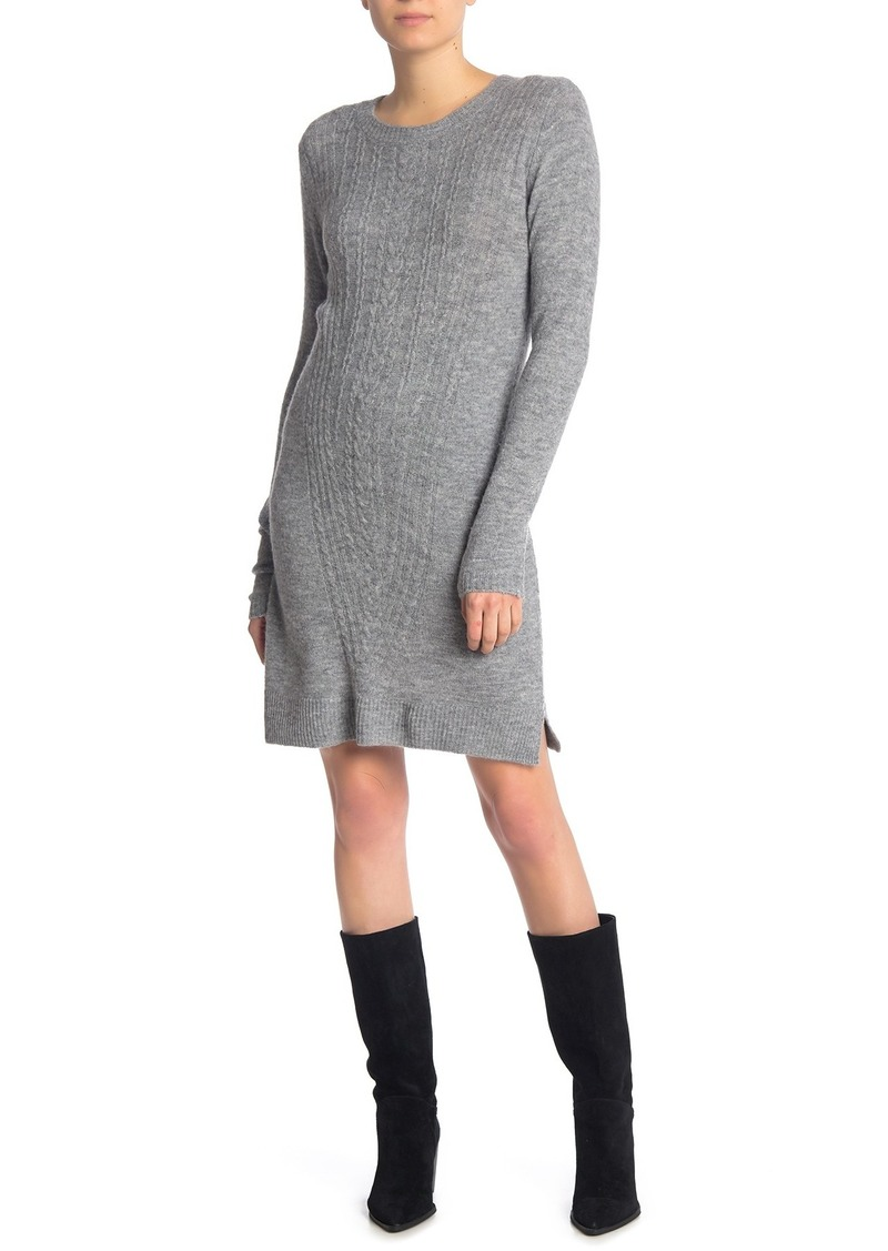 Max Studio Cable Knit Bow Back Sweater Dress