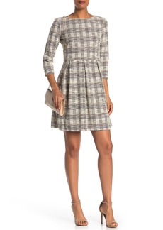 Max Studio Check Woven Knit Dress
