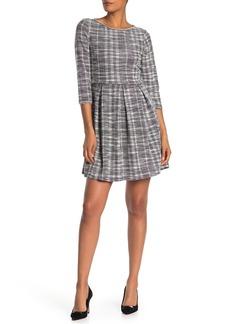 Max Studio Check Woven Knit Dress