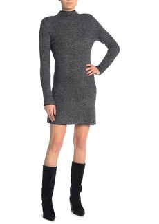 Max Studio Chevron Mock Neck Sweater Dress