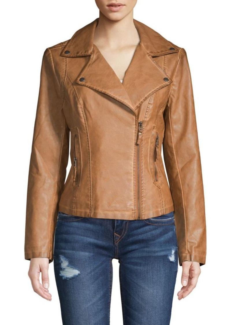 221a753d8db SALE! Max Studio Classic Faux Leather Jacket