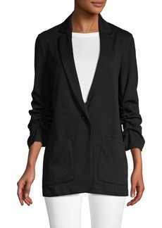 Max Studio Classic Ruched-Sleeve Jacket