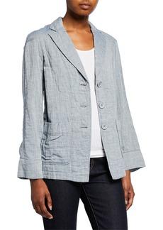 Max Studio Cotton Double Weave Jacket