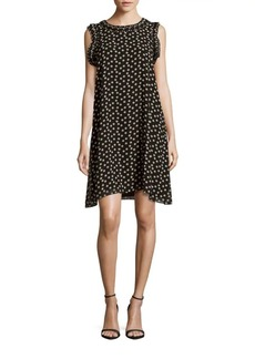 Max Studio Dot-Printed Sleeveless Dress