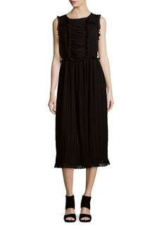 Max Studio Elasticized Waist A-Line Dress