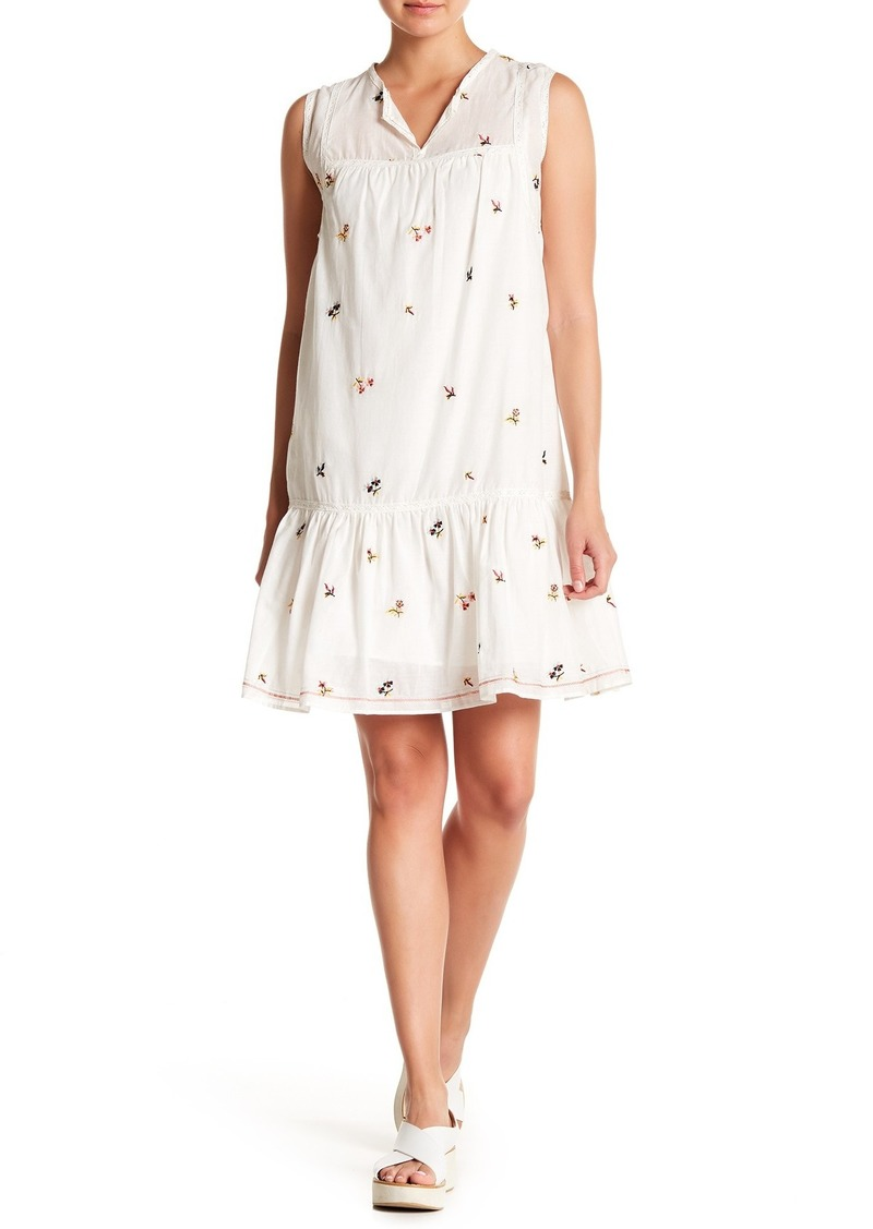 Max Studio Embroidered Babydoll Dress