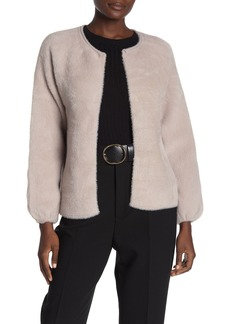 Max Studio Faux Fur Puffed Sleeve Jacket
