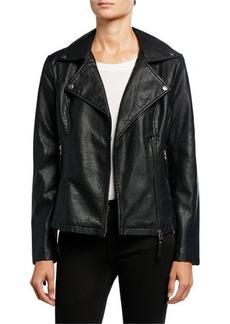 Max Studio Faux-Leather Moto Jacket