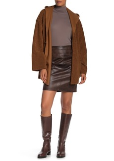 Max Studio Faux Leather Skirt