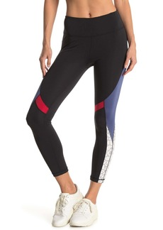 Max Studio Flamingo Coloblock Leggings