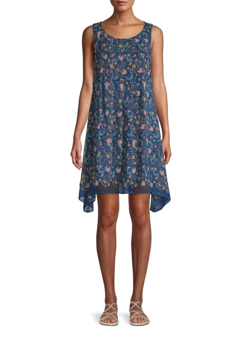 Max Studio Floral Asymmetrical Shift Dress