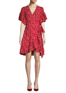 Max Studio Floral Bubble Crepe Dress