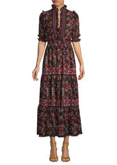 Max Studio Floral Midi Dress