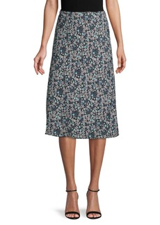 Max Studio Floral-Print Pull-On Skirt