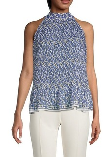 Max Studio Floral-Print Sleeveless Top