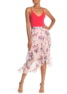 Max Studio Floral Print Wrap Skirt
