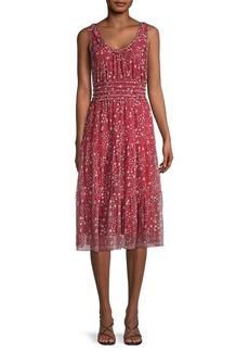 Max Studio Floral Tiered Dress