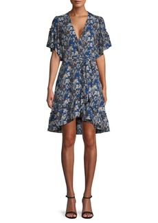 Max Studio Floral Wrap A-Line Dress