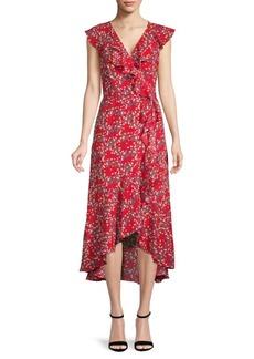 Max Studio Floral Wrap Dress