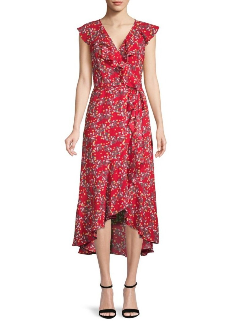 Max Studio Floral Wrap Dress