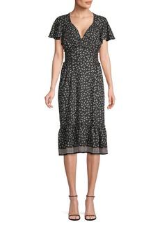 Max Studio Flounce Sleeve & Hem Dress