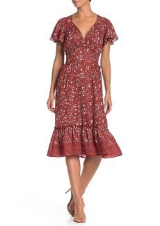 Max Studio Flutter Sleeve Ruffle Dress
