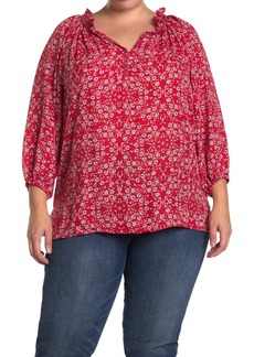 Max Studio Flutter Sleeve Top