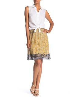 Max Studio Gathered Waist Floral Print Skirt