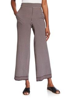 Max Studio Geometric Printed Long Ankle Pants