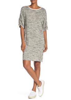 Max Studio Heathered Ruched Sleeve Dress
