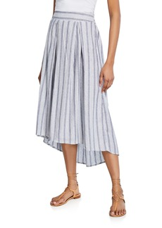 Max Studio High-Low Striped Skirt
