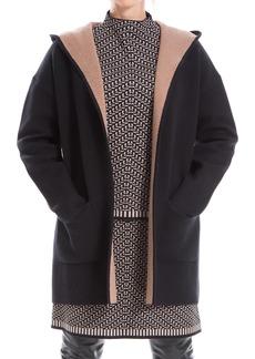 Max Studio Hooded Long Cardigan Coat