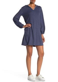 Max Studio Hooded Sweatshirt Shift Dress