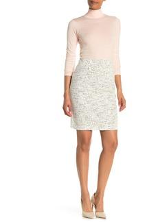 Max Studio Knit Tweed Button Detail Skirt