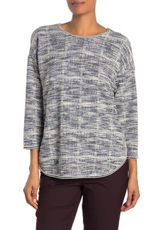 Max Studio Knit Tweed Drop Shoulder Top