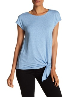 Max Studio Knotted Hem Jersey Tee