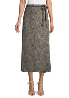 Max Studio Layered Polka Dot Side Tie Skirt